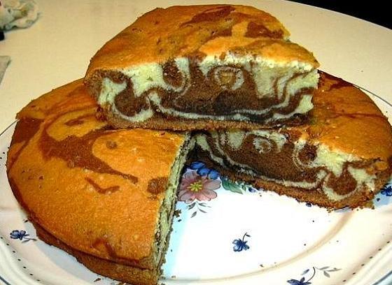 Une recette originale du cake marbré mais sous format rectangulaire: