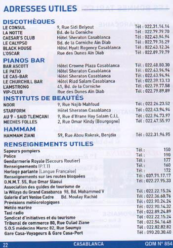 nostalgie casablanca-2007-adresses utiles-.JPG